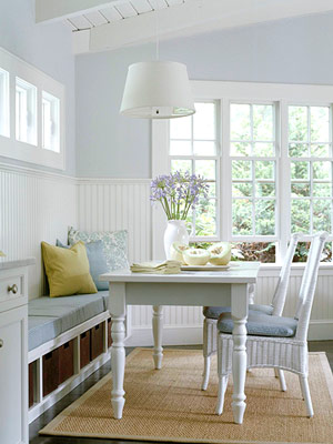 Dining Room Bench Against Wall